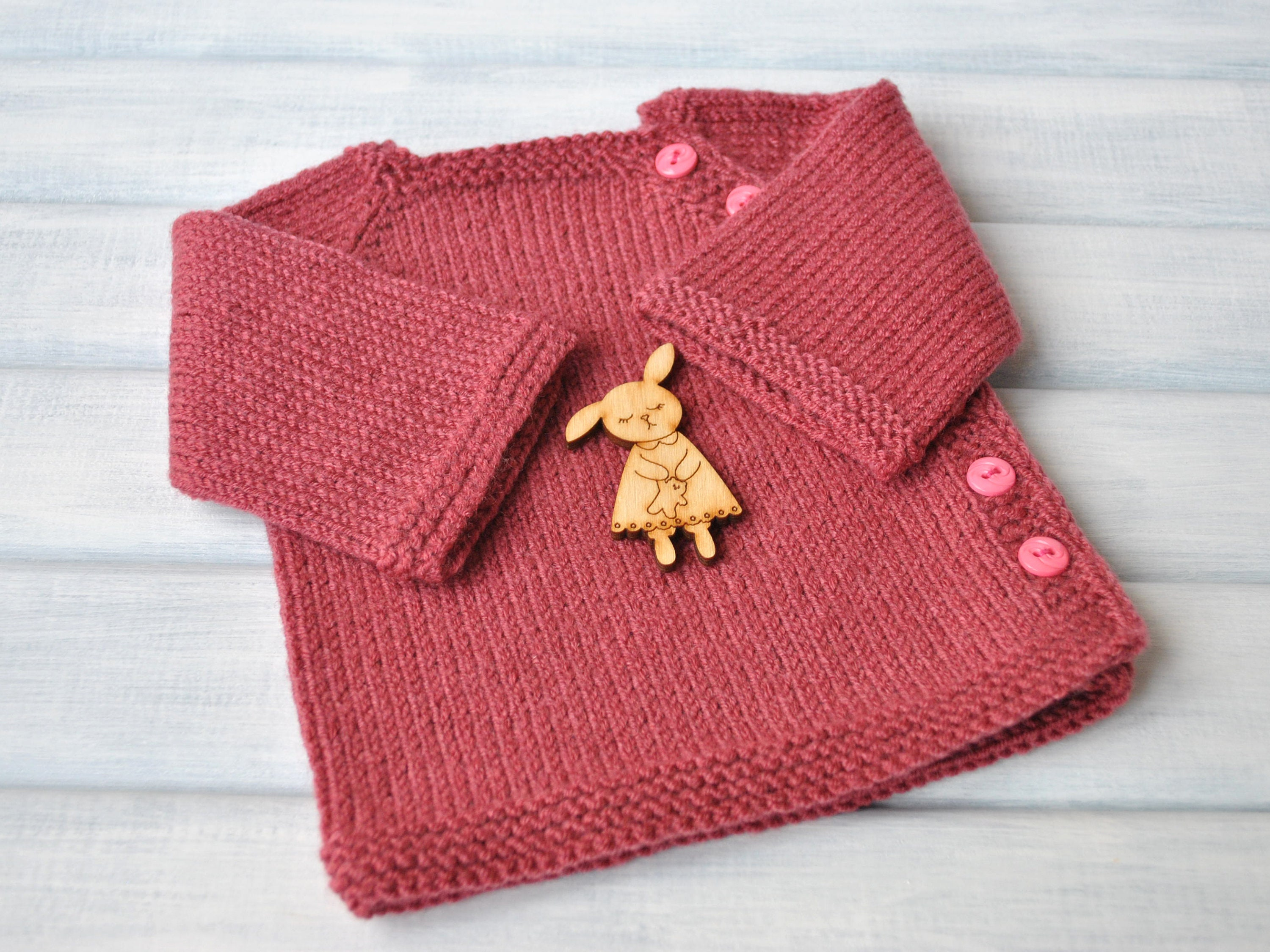 1caec7074 Knit baby red cardigan Baby cardigan Childrens knitwear Hand