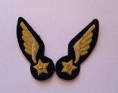 WW1 French Air Service Pilot Collar Insignia - military bullion embroidered patch
