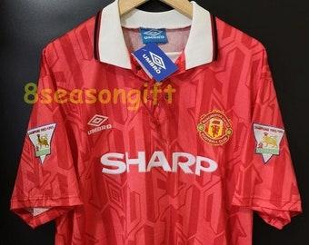 bc66d4bbb Manchester United 1992-1994 SHARP Home Soccer Jersey Football Shirt S M L  XL XXL
