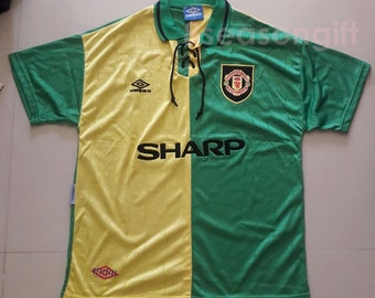 04b0eefc0 Vintage Manchester United Newton Heath Retro Shirt Soccer Jersey S M L XL
