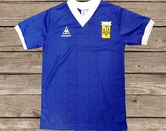 1dc566039 Argentina World Cup 1986 Maradona #10 Hand Of God Soccer Jersey Football  Shirt S M L XL