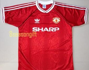 e5204fbbc95 Manchester United 1990 Football Shirt Soccer Jersey S M L XL
