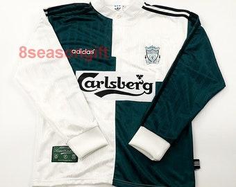 9ac02f836 Liverpool 1995-1996 Away Soccer Jersey Football Shirt Trikot maillot S M L  XL