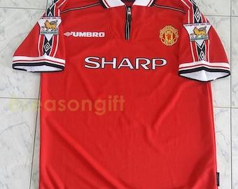 968e5f59225 Vintage Manchester United  7 BECKHAM Soccer Jersey Football Shirt S M L