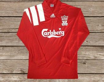 f09e5c4a668 Liverpool 1992-1993 Long Sleeve RETRO Football Soccer Jersey S M L XL XXL
