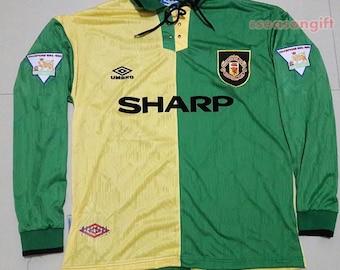 Cantona  7 Manchester United 1992 93 Newton Heath Retro Shirt Soccer Jersey  S M L XL d8c50b31c