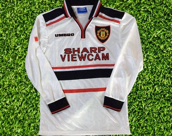 Manchester United 1997-1999 Long Sleeve RETRO Football Soccer Jersey S M L  XL 56b609ee4