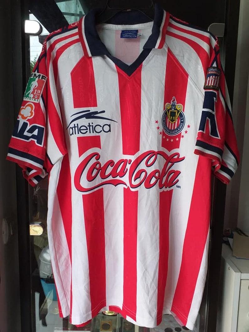los angeles 7508a 1cdc5 Chivas De Guadalajara 1998 Soccer Jersey Football shirt Maillot M