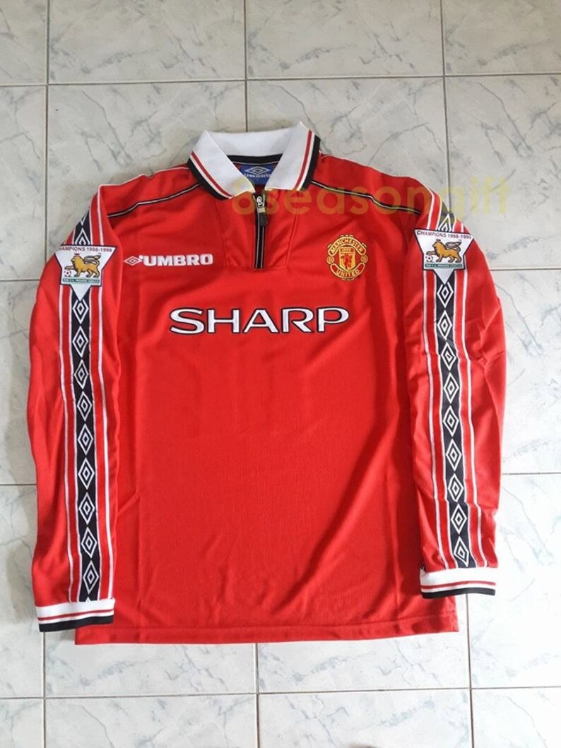 e14cefcb330 Vintage Manchester United 7 BECKHAM Long Sleeve Soccer Jersey
