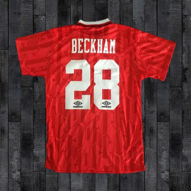 7a9f99b1175 Manchester United 1992-1994 SHARP Soccer Jersey Football Shirt
