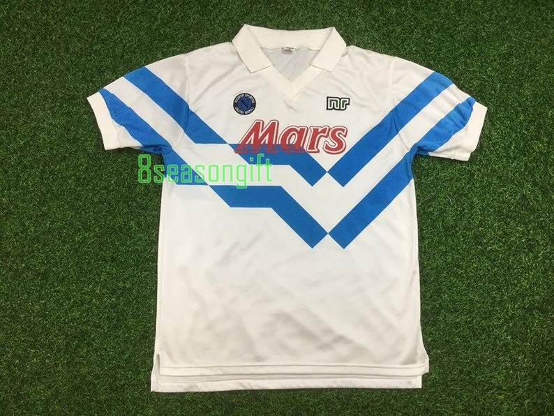 2a2fb6b62 Napoli 1989 Away Soccer Jersey Football Shirt MAGLIA CALCIO M