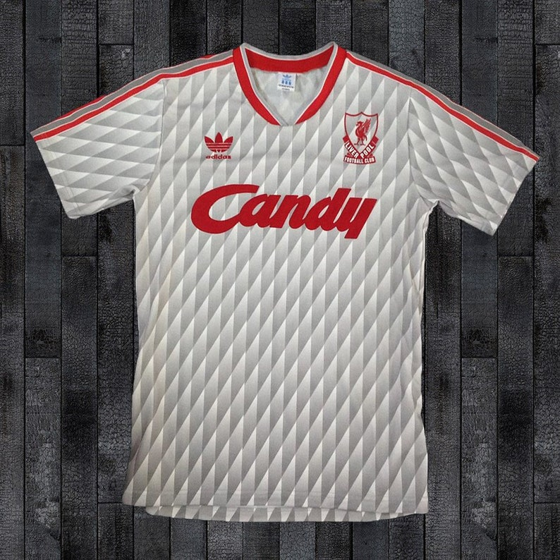 ab3c6c49c Liverpool Candy 1989-1990 Away DIAMOND Soccer Jersey Football