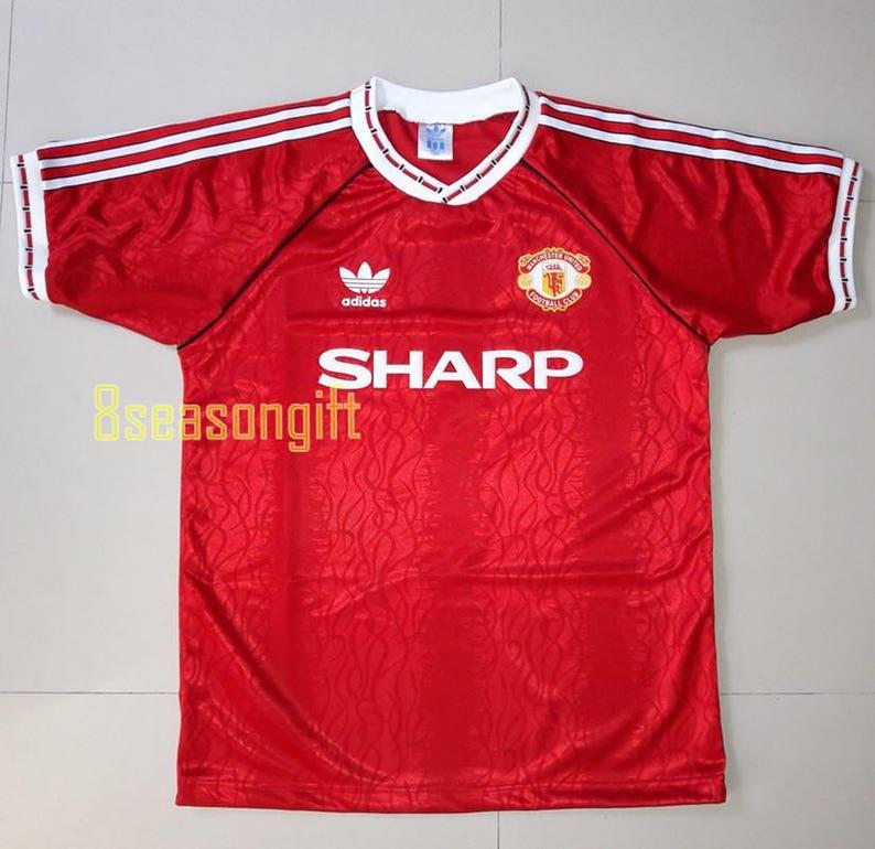 0db00ad38 Manchester United 1990 Football Shirt Soccer Jersey S M L XL