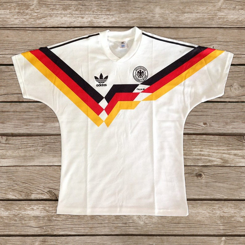 85b40b3aff1 West Germany 1990 World Cup Football shirt Soccer Jersey