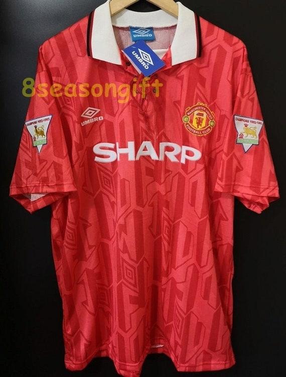Manchester United 1992 1994 SHARP Home Soccer Jersey Football Shirt S M L XL XXL