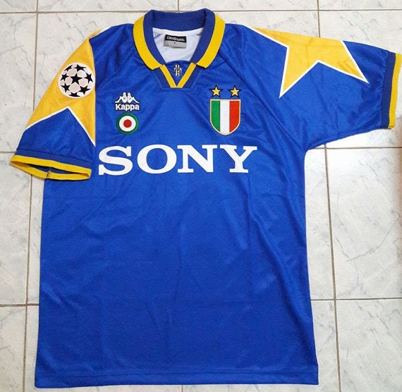 82a3594ce Items similar to Juventus Away 1995 - 1996 DEL PIERO #10 Final Ucl Soccer  Jersey Football Shirt M L XL on Etsy