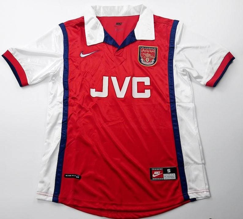 05a4013af Arsenal 1998 JVC Soccer Jersey Football Shirt maillot Trikot S | Etsy