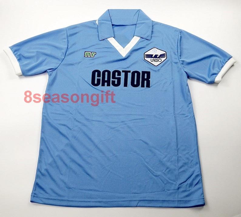 3022af4c937 Lazio 1984 1985 Home Soccer Jersey Football Shirt SIZE S M L