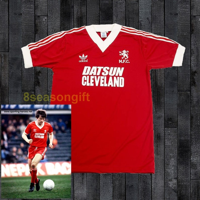 lowest price c1f74 31464 Middlesbrough 1980 Home Soccer Jersey Football Shirt Trikot Maillot S M L XL