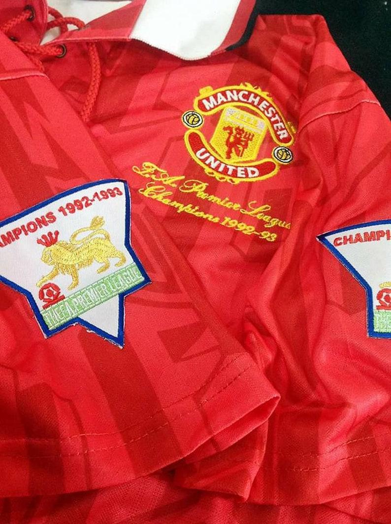 Manchester United 1992-1994 SHARP Soccer Jersey Football Shirt  5ebf53b6d