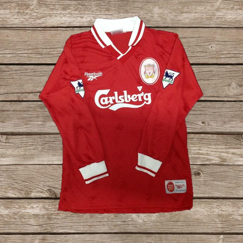 d285698c3 Liverpool 1996-1998 9 FOWLER Soccer Jersey Football Shirt S M