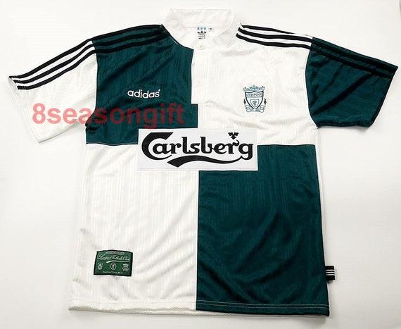 d415dc20173 Liverpool 1995-1996 Away Soccer Jersey SS Football Shirt