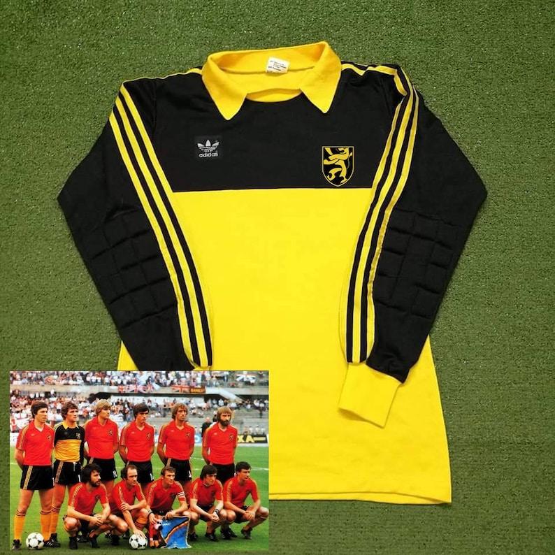 b57789cf6f0 Belgium 1980 UEFA EURO 1 Goalkeeper Soccer Jersey Football | Etsy