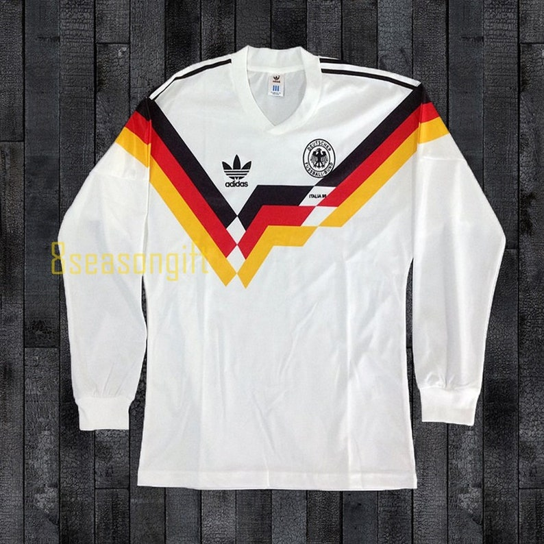 36166840d66 West Germany 1990 World Cup Long Sleeve Football Shirt Soccer