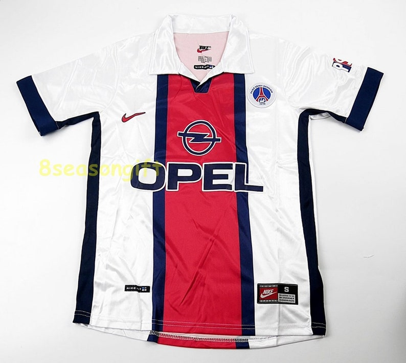 purchase cheap 7e367 8f133 Paris Saint Germain 1998-1999 PSG Away Soccer Jersey Football Shirt Maillot  Trikot S M L XL
