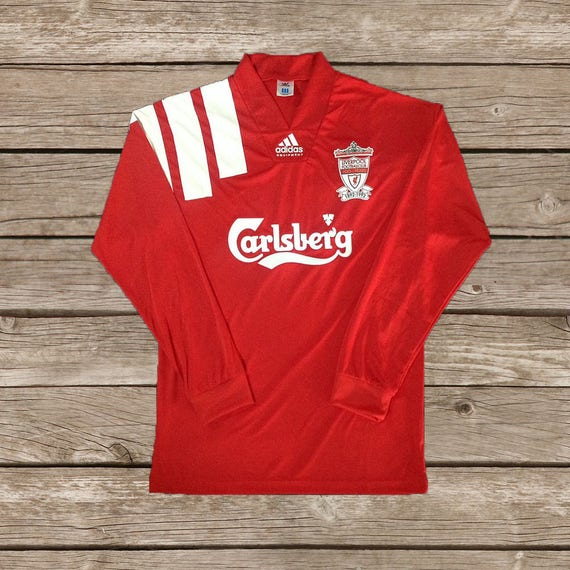check out 67ad7 76fdc Liverpool 1992-1993 Long Sleeve RETRO Football Soccer Jersey S M L XL XXL