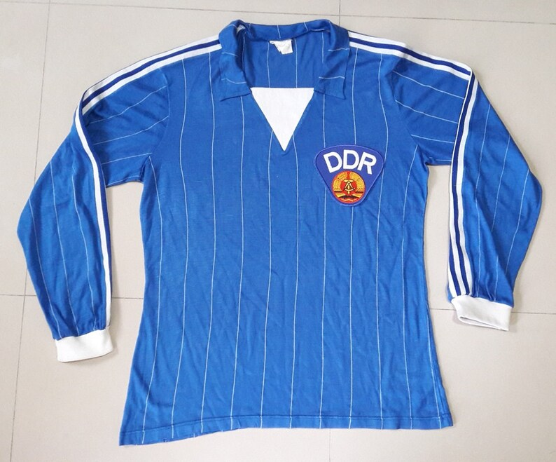 bd3c2906949 DDR East Germany 1985-1987 Football Shirt Soccer Jersey Calcio
