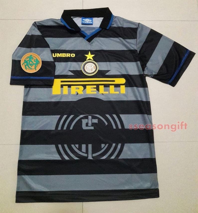 1997 Internazionale Inter Milan 10 RONALDO Uefa Cup Soccer  997758cce