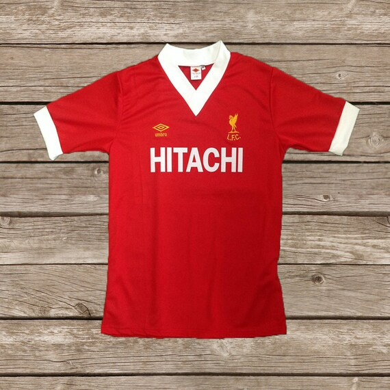 d1e8a32ac Liverpool 1980 HITACHI Soccer Jersey Football Shirt SIZE S M L