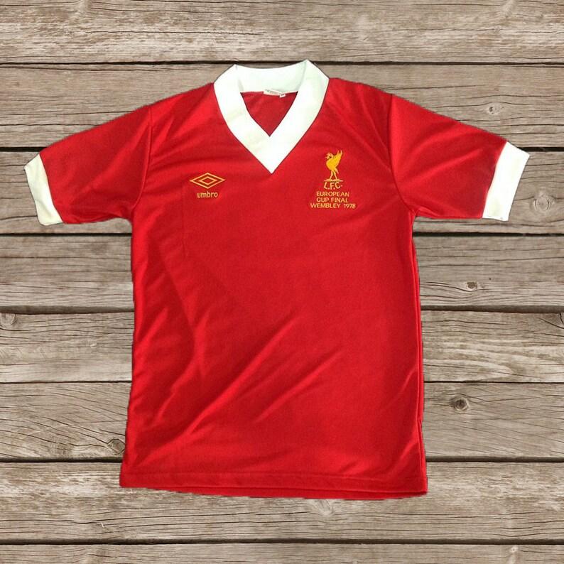 4a5922b8564 Liverpool 1978 European Cup WEMBLEY Soccer Jersey Football | Etsy