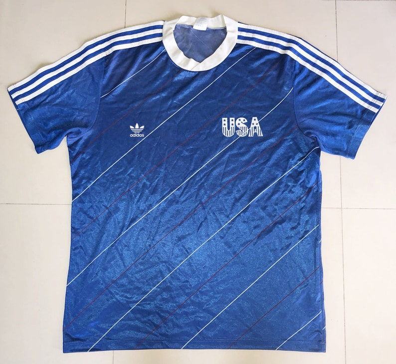 389143572 USA 1984 Football Shirt Soccer Jersey Trikot XL