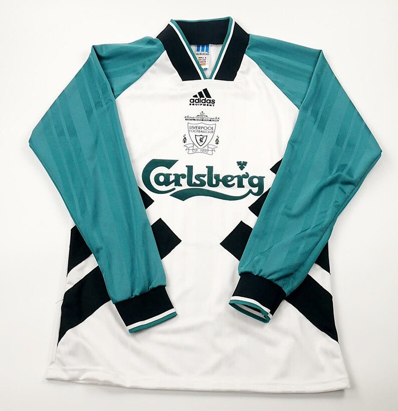1f35c66ac51 Liverpool 1993-1995 Away Soccer Jersey Football Shirt maillot | Etsy
