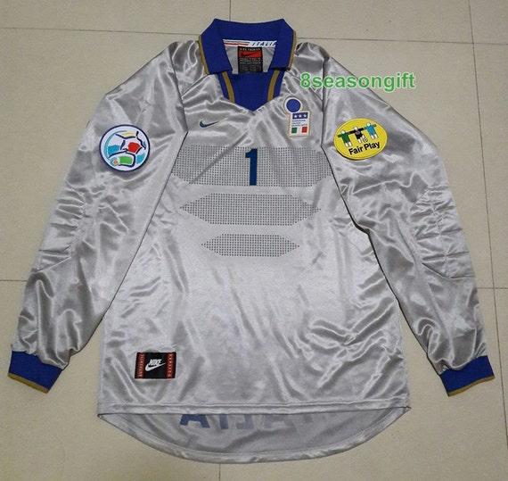 Italy 1996 EURO #1 PERUZZI Goalkeeper Soccer Jersey Football Shirt Calcio L yBGXD2SZD