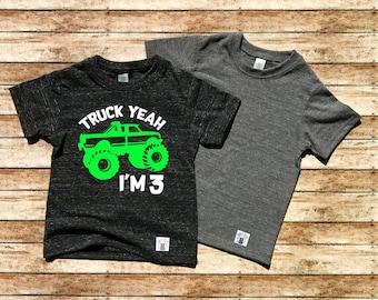 52335796 Monster Truck Birthday Shirt - Custom Toddler Shirt - Monster Truck Shirt - Monster  Truck Party - Boys Birthday Shirt - Truck Birthday Shirt