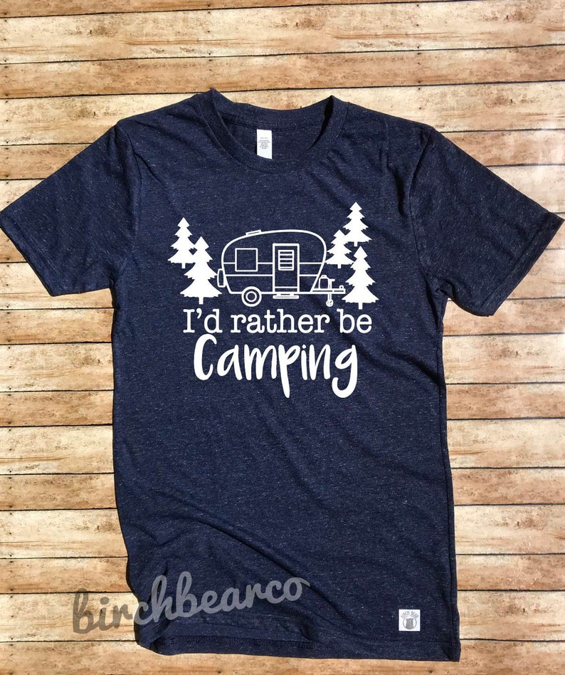 XL I Would Rather Be Camping T shirt Funny Caravan Mens Gift Holiday Top S