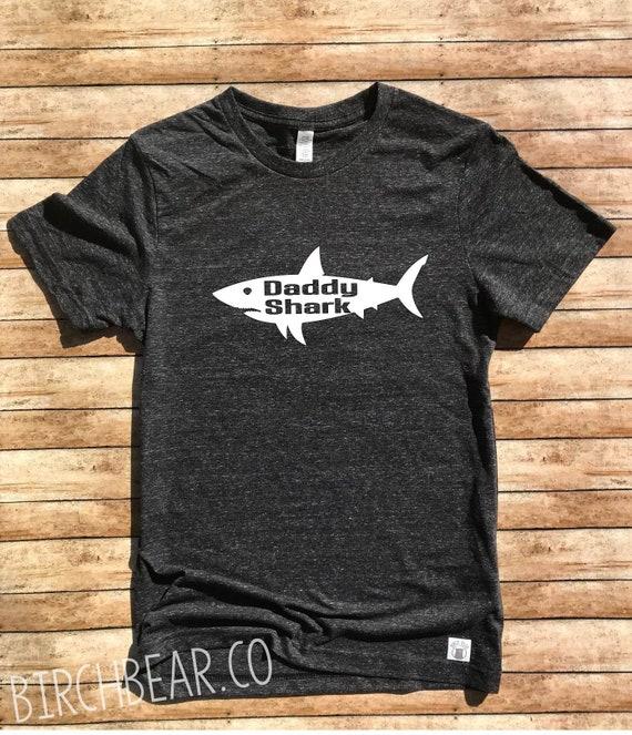 72c97269d Unisex Tri-Blend T-Shirt Daddy Shark Shirt Dad Shark Shark | Etsy