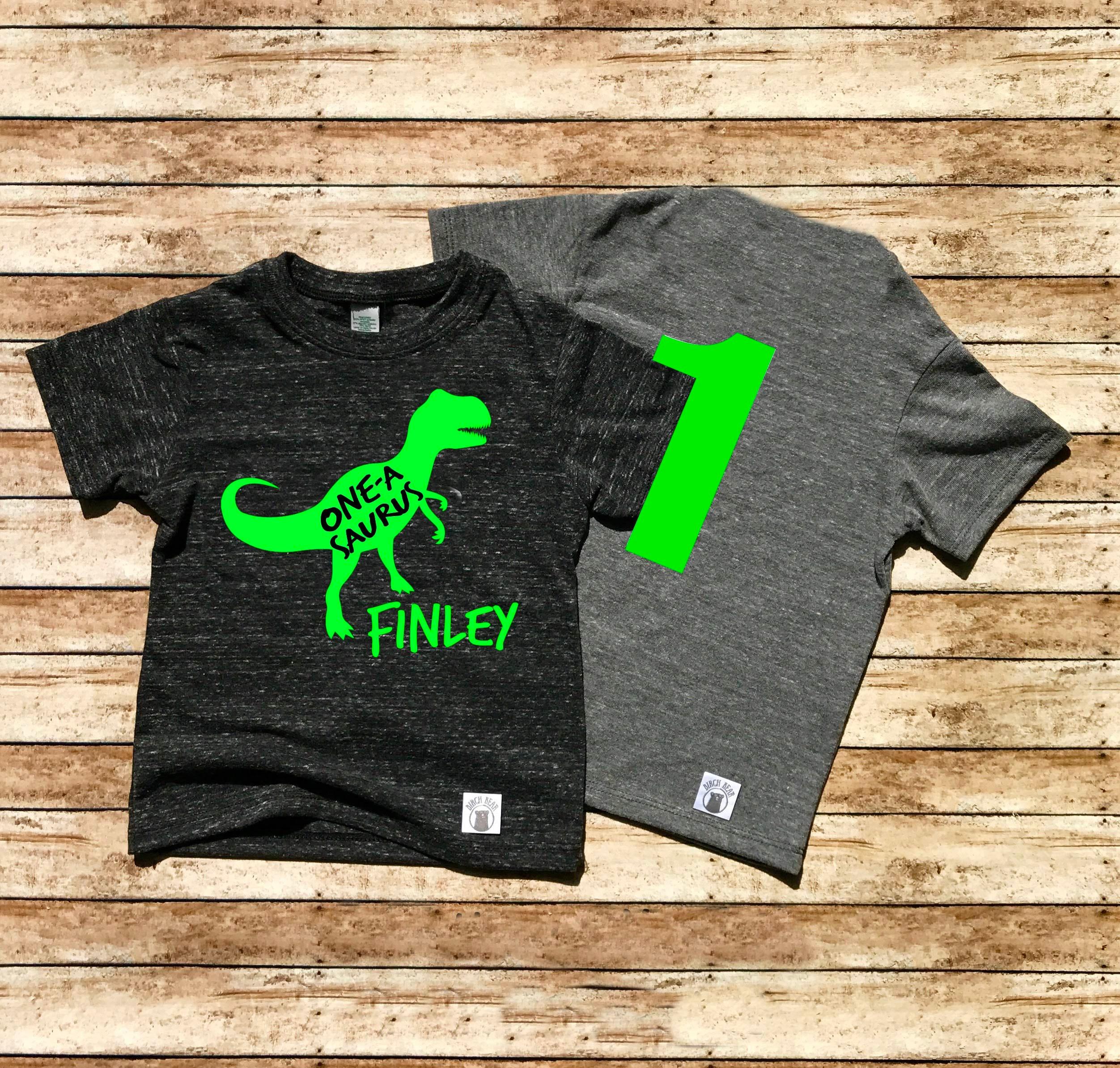 Tri Blend T Shirt Birthday Boy Dinosaur T Shirt Custom Saurus