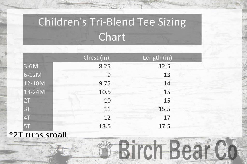 Childrens Tri Blend T Shirt Custom Birthday Boy