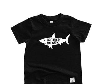 Toddler Short Sleeve Brother Shark - Shark Birthday Shirt - Toddler Shark Shirt - Custom Birthday Shirt