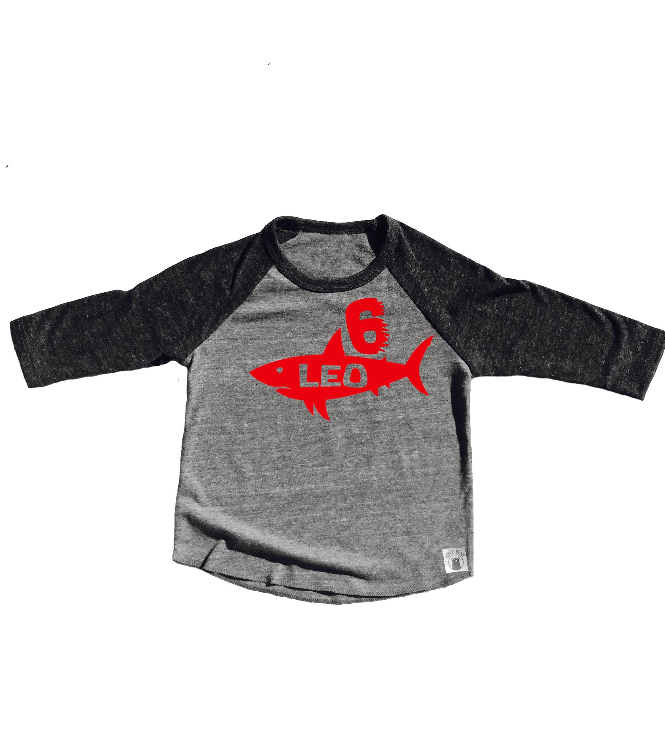 Toddler Baseball Tee Triblend Custom Shark Shirt