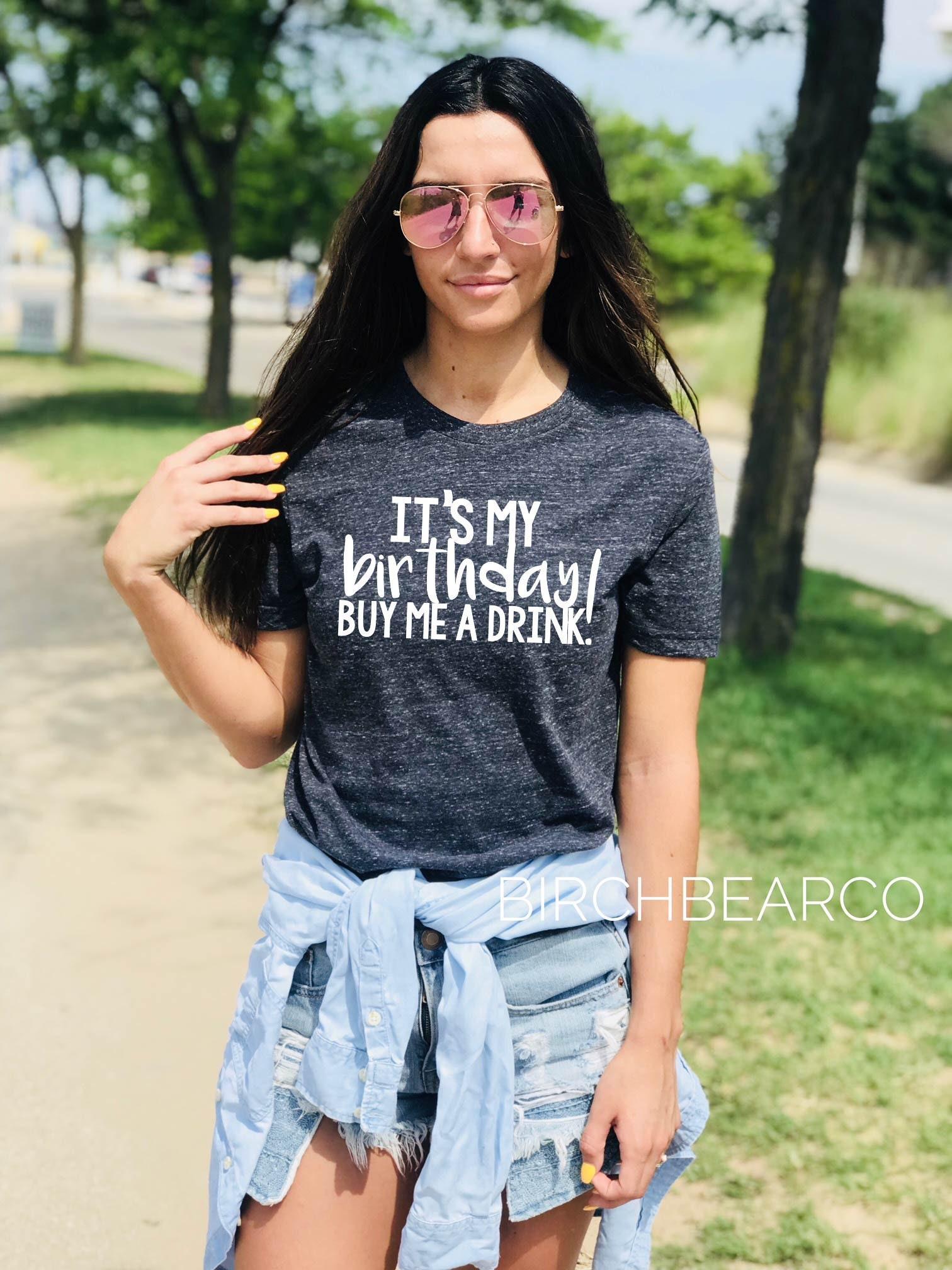 Unisex Tri Blend T Shirt Its My Birthday Buy Me A Drink