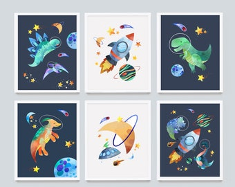 Astronaut Print Outer Space Nursery NASA Nursery Decor Space Nursery Prints Adventure Nursery Space Nursery Print Travel Theme Nursery