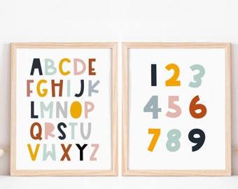 2 Printed Kids Car Sun Shades ABC /& ALPHABET