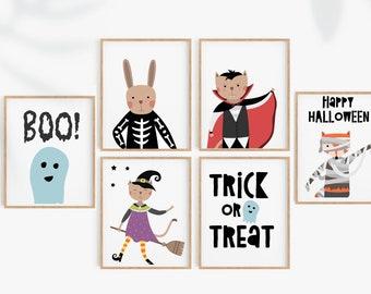 Set of 6 Halloween prints, Happy Halloween print, Halloween Sign, kids Halloween, Halloween Printable, Halloween posters, Halloween party