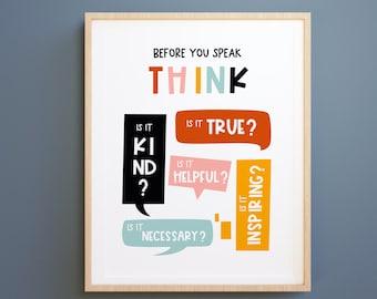 Classroom prints, playroom Posters: Kids Mindfulness,Kids Wall Art, Growth Mindset, Classroom Decor, learning print, Educational prints JPG