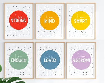 Classroom posters, playroom Posters ,Kids wall art, printable wall art, Mindfulness prints,Growth Mindset,learning print, Positive prints